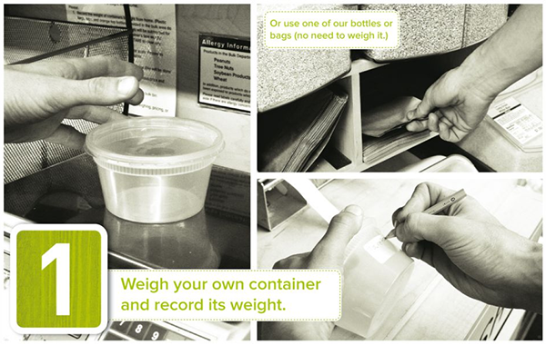 Weigh your own container and record its weight - Tidal Creek Coop
