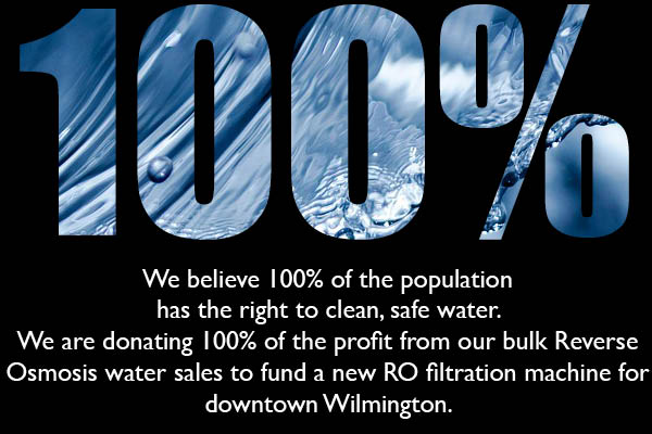 100% Of Tidal Creek Co-op RO Water Sales To Fund Filtration Machine In Downtown Wilmington