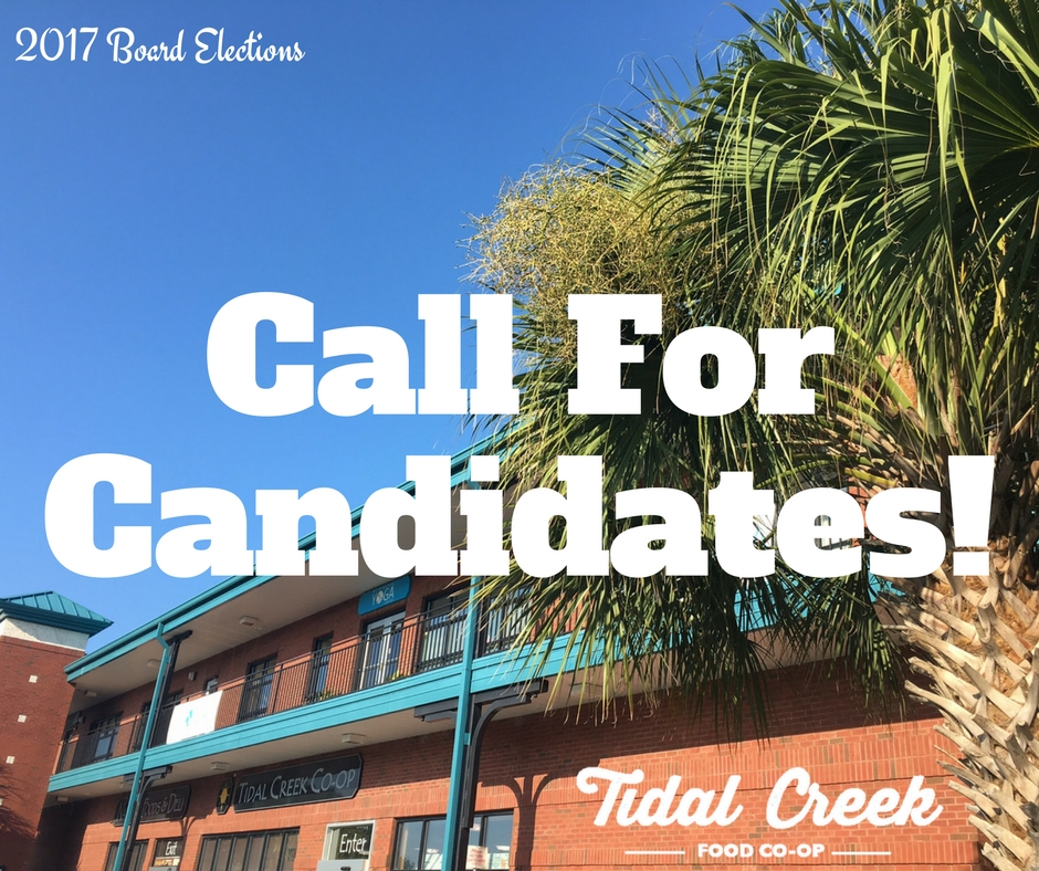 Call For Candidates – Board Elections 2017